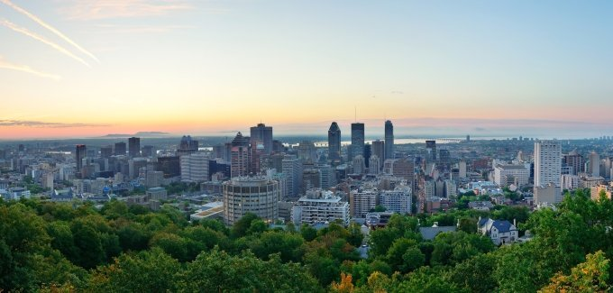 After you move to Montreal, be sure to take in the city skyline from Mount Royal