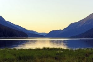 Twilight at Buttle Lake