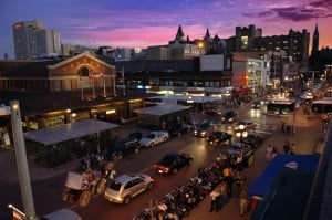 The hustle and bustle of Byward Market, where many fine restaurants can be found.