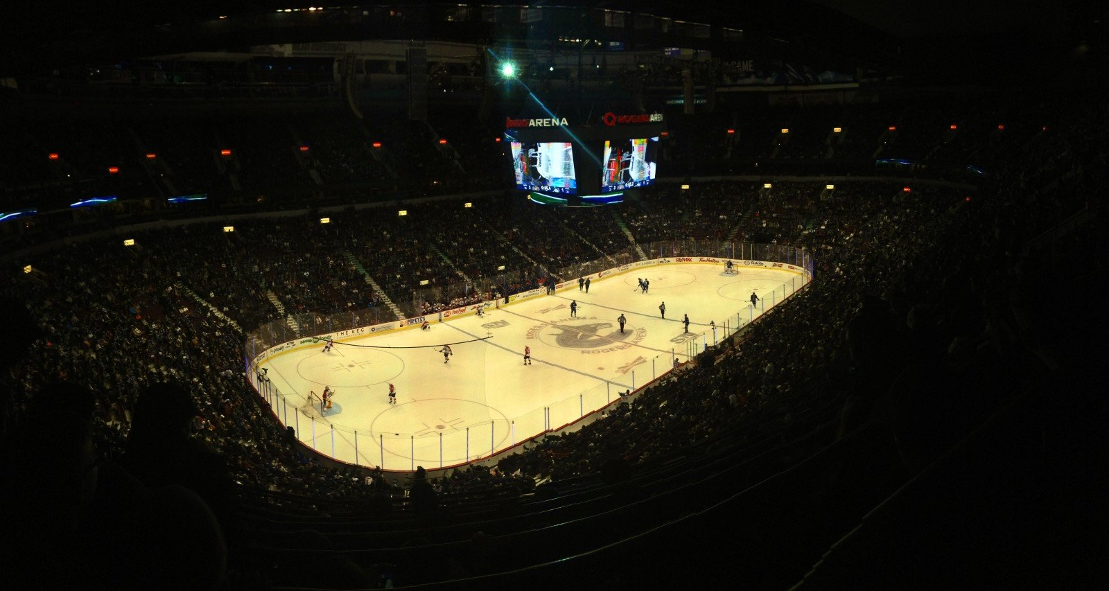 The Vancouver Canucks at Rogers Arena