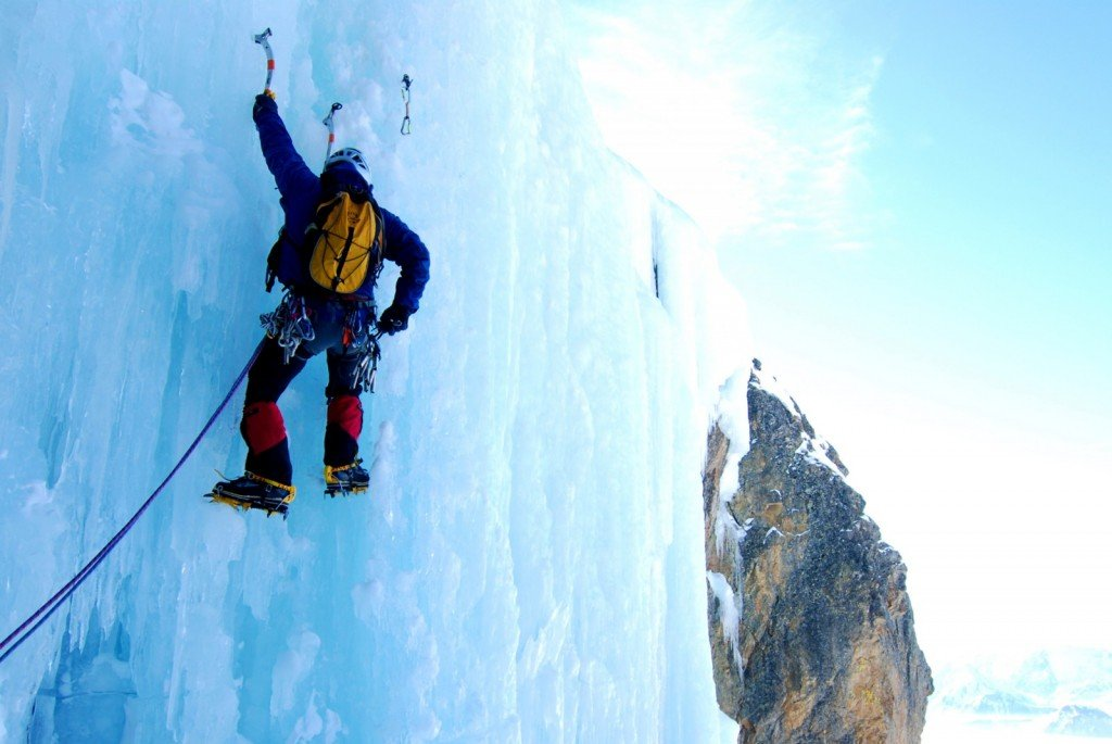 Winter activities in Vancouver - ice climbing