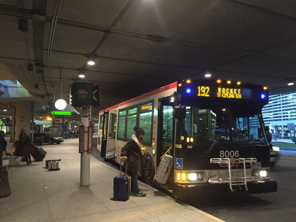 TTC bus at Pearson Airport
