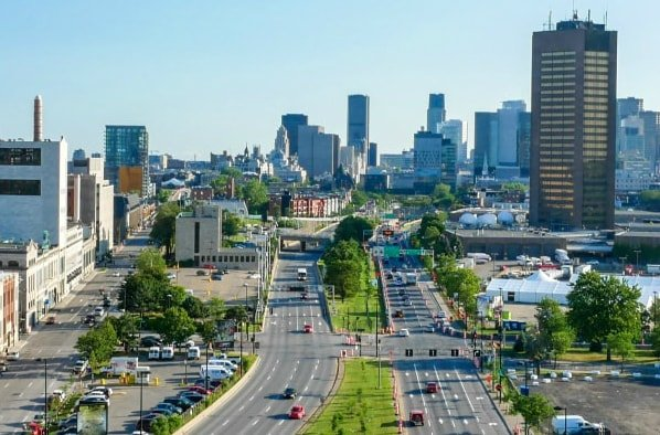 This highway in Montreal is one of many in the city | Americans moving to Canada