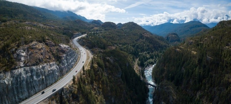 Living in Whistler: sea-to-sky highway