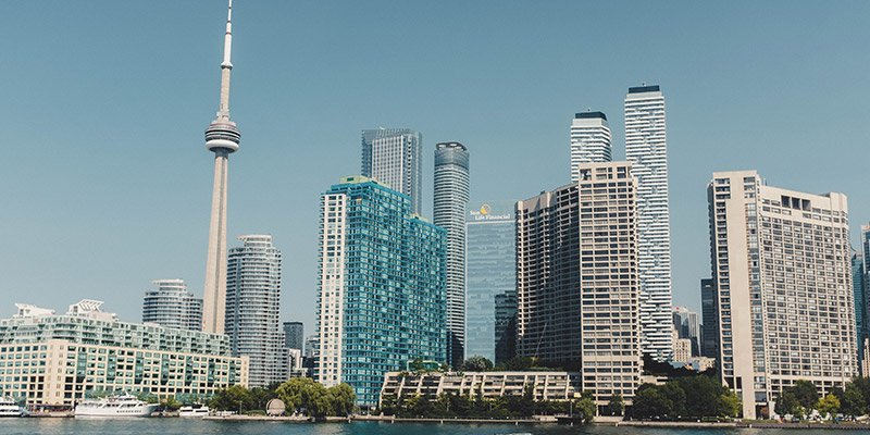 Skyline of the city of Toronto