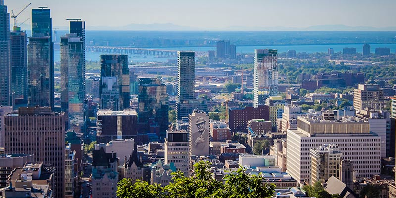 Skyline of the city of Montreal, Quebec