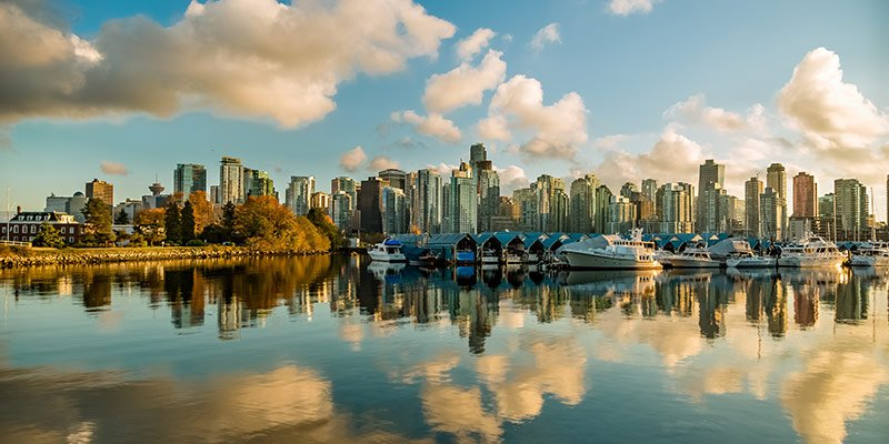 Skyline of the city of Vancouver, British Columbia